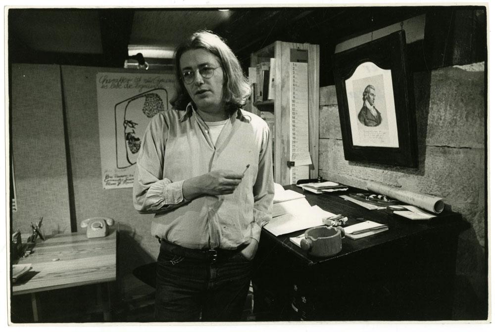 Der Intellektuelle: Horst Brandstätter 1979 im Marbacher Buchladen